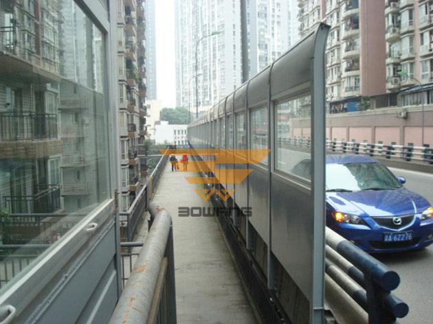 武汉珞狮南路声屏障选用复合针孔铝吸声屏障